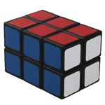 2x2x3 Magic Cube Standard Color Scheme Black