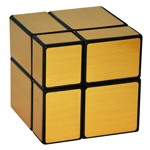 Mir-two Two-layer Mirror Block Magic Cube Golden