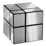 Mir-two 2x2x2 Mirror Block Magic Cube Silver