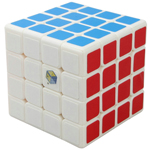 YuXin Blue Kylin 4x4x4 Speed Cube 60mm White