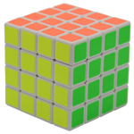 YuMo JuQue 4x4x4 Magic Cube White