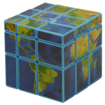 Mir-two Globe 3x3x3 Mirror Block Magic Cube Blue