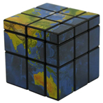 Mir-two Globe 3x3x3 Mirror Block Magic Cube Black