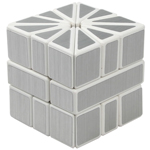Cubetwist Silver Stickered Square-2 Two Magic Cube White