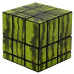 Mir-two Watermelon 3x3x3 Mirror Block Magic Cube Black