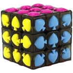 YongJun Spades Tiled 3x3x3 Magic Cube Transparent Black