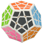 QiYi Galaxy Concave Megaminx Speed Cube White