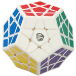 QiYi Galaxy Plane Megaminx Speed Cube White