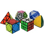 ShengShou 6 Magic Cubes Bundle - Skewb Megaminx Pyraminx Mastermorphix SQ-1 Magic Snake