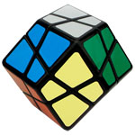 QJ Stone 4-Axis Dodecahedron Magic Cube Black