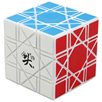 DaYan Bagua 6 Axis 8 Rank Magic Cube White