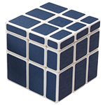 XM Frosted Mirror Lines Magic Cube Blue