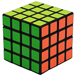 YuMo JuQue 4x4x4 Magic Cube Black
