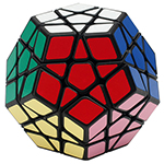 Funs limCube Annual-Rings Megaminx Speed Cube Black