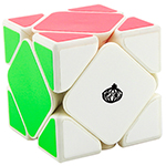 CONGS DESIGN MeiChen Skewb Speed Cube White
