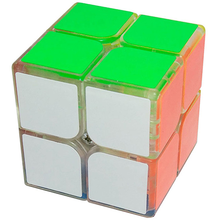 YongJun GuanPo 2x2x2 Magic Cube 50mm Transparent