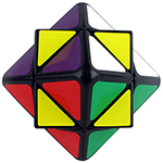 LanLan Wolf Tooth Star-like Skewb Cube Black