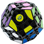 LanLan Gear Megaminx Lite Sickered version Magic Cube Black