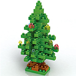 Mini Christmas Tree 130Pcs Blocks Building Set Puzzles Deskt...