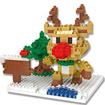 Mini Blocks Christmas Reindeer 306Pcs Blocks Building Set Pu...