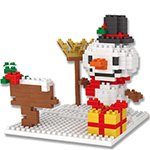 Mini Blocks Christmas Snowman 290Pcs Blocks Building Set Puz...