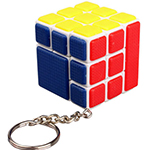 Cubetwist Bandaged and Fused 3x3x3 Cube Keychain White