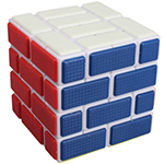 Cubetwist Wall 4x4x4 Bandaged Cube White