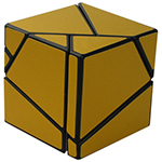 limCube 2x2x2 Ghost Cube Golden Stickered Black
