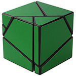 limCube 2x2x2 Ghost Cube Green Stickered Black