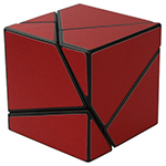 limCube 2x2x2 Ghost Cube Red Stickered Black
