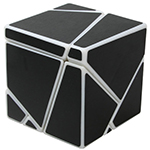 limCube 2x2x2 Ghost Cube Black Stickered White