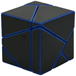 limCube 2x2x2 Ghost Cube Black Stickered Blue