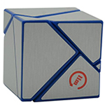 limCube 2x2x2 Ghost Cube Silver Stickered Blue