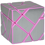 Fang Cun 3x3x3 Ghost Cube Silver Stickered Pink