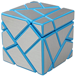 Fang Cun 3x3x3 Ghost Cube Silver Stickered Blue