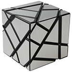Fang Cun 3x3x3 Ghost Cube Silver Stickered Black