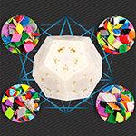 QiYi Galaxy Megaminx Luxury Version Sculpture Concave Convex Plane 4-in-1 Speed Cube