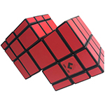 CubeTwist Mirror Double Conjoined 3x3x3 Magic Cube Red