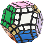 LanLan 12-Axis Dodecahedron Magic Cube Black