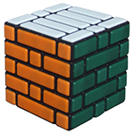 Cubetwist Wall 5x5x5 Bandaged Cube Black