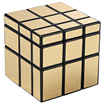 Cyclone Boys 3x3x3 Mirror Block Magic Cube Golden