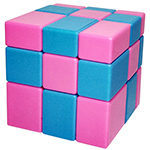 ShengShou 3x3x3 Mixed Color Mirror Block Magic Cube
