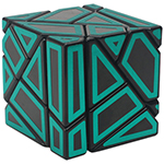 FangCun 3x3x3 Ghost Cube Hollow Green Stickered Black