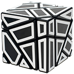 FangCun 3x3x3 Ghost Cube Hollow White Stickered Black