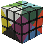 TC 12-Color 3x3x3 Magic Cube Black