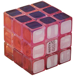 Maru Mini 3cm 3x3x3 Magic Cube Transparent Pink