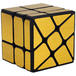 Cube Classroom Windmirror Magic Cube Brushed Golden