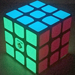 TC Glow in the Dark Luminous stickered 3x3x3 Magic Cube - Sq...