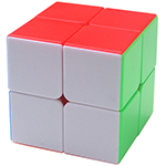 Shengshou Rainbow 2x2x2 Stickerless Magic Cube 50mm
