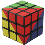 High Challenge 4-Color 3x3x3 Magic Cube Black
